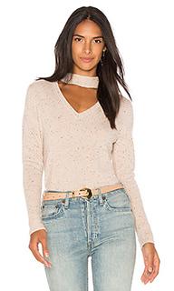 Кашемировый пуловер в твидовую крапинку с воротником-чокером - 525 america