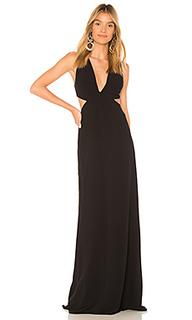 Вечернее платье с вырезом deep v neck - Halston Heritage