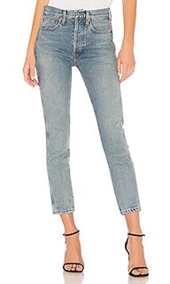 Укороченные прямые джинсы double needle - RE/DONE