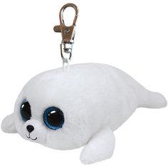 "Мягкая игрушка ""Брелок Белый тюлень Icing, 13 см"", Beanie Boos, Ty"