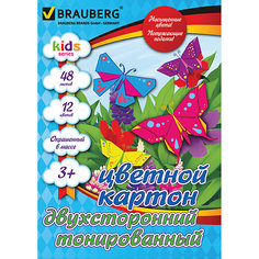 Цветной картон А4, 48 л., 12 цв. Brauberg