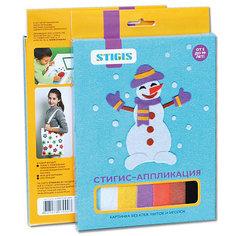 "Стигис-аппликация картинка ""Снеговик"" Stigis"