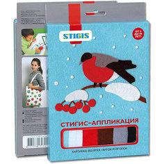 "Стигис-аппликация картинка ""Снегирь"" Stigis"