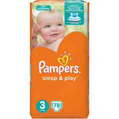 Подгузники Pampers Sleep & Play, 5-9 кг, 3 размер, 78 шт., Pampers