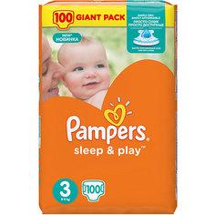 Подгузники Pampers Sleep & Play, 5-9 кг, 3 размер, 100 шт., Pampers