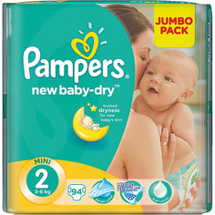 Подгузники Pampers New Baby-Dry, 3-6 кг, 2 размер, 94 шт., Pampers