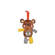"""Музыкальная подвеска-погремушка с зеркальцем """"Мишка"""" Жирафики"""