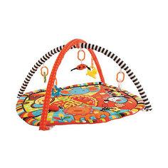 "Развивающий коврик ""Ушастики"" с 6-ю развивающими игрушками, шуршалкой и пищалкой Жирафики"