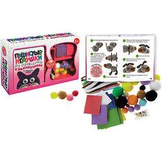 Пушистые игрушки из проволочек и помпончиков Maestro