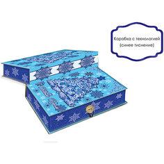 Подарочная коробка Елочка в голубом-M Magic Time