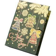Подарочная коробка Елка с колокольчиками-M Magic Time
