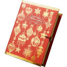 Подарочная коробка Золото на красном-M Magic Time