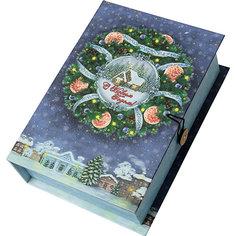 Подарочная коробка Новогодний венок-M Magic Time