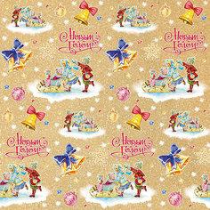Крафт бумага Малыши на санках для сувенирной продукции Magic Time