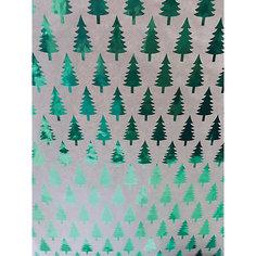 Крафт бумага Зеленые елочки для сувенирной продукции в листах Magic Time