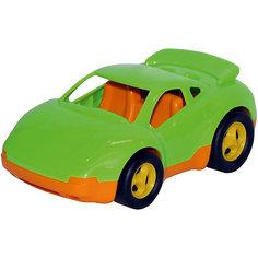 """Гоночная машинка Полесье """"Вираж"""", желто-зеленая"""
