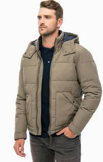 Демисезонная куртка цвета хаки с капюшоном Jack & Jones