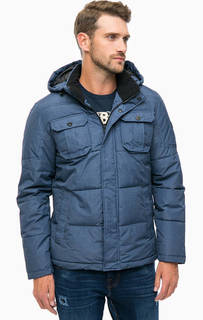 Синяя демисезонная куртка с капюшоном Jack & Jones