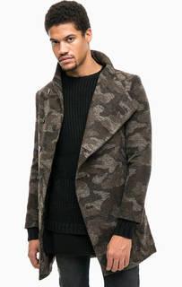 Пальто на пуговицах в стиле милитари Religion
