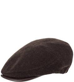 Шерстяная кепка коричневого цвета Herman