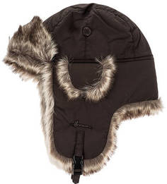 Коричневая утепленная шапка-ушанка Herman