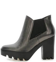 Кожаные ботильоны на каблуке и платформе Calvin Klein Jeans