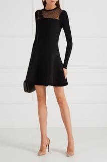 Трикотажное платье с сеткой RED Valentino
