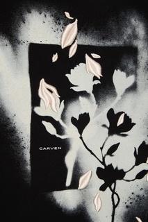 Черный свитшот с принтом Carven