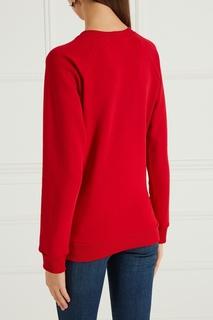 Красный свитшот с вышивкой Girls In Bloom