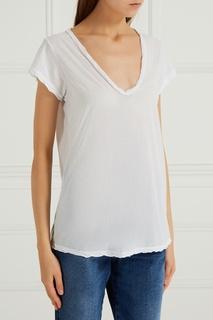 Белая футболка из хлопка James Perse