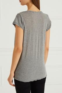 Меланжевая футболка из хлопка James Perse