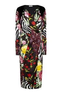 Платье в стиле пэчворк Attico