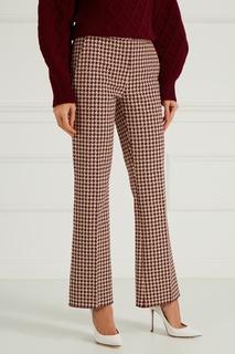 Хлопковые брюки в клетку Victoria Beckham