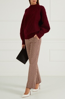 Шерстяной джемпер бордовый Victoria Beckham
