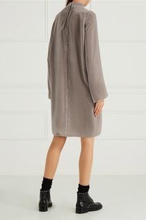 Серое бархатное платье Rick Owens