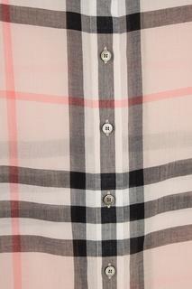 Розовая блузка в клетку Burberry