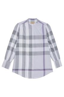 Фиолетовая блузка в клетку Burberry