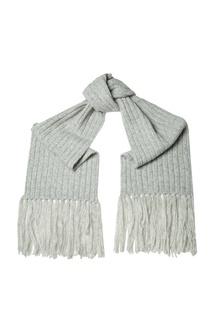 Серый шарф в рубчик Abby Acne Studios