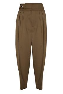 Зеленые брюки со складками Frank Sportmax Code