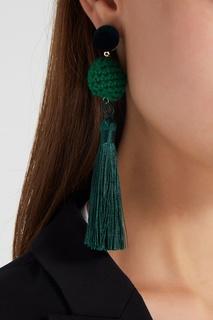 Серьги-кисти зеленые Lisa Smith