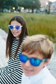 Очки с цветными зеркальными линзами Babiators