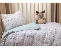 Комплект постельного белья Li-Ly «Игрушки» трикотаж 3 пр. голубой Kupu Kupu