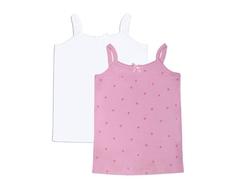 Майка для девочки Barkito 2 шт., розовый/белый