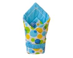 Одеяло на выписку для мальчика Арго «Шары», голубое Argo