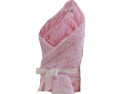Одеяло на выписку для девочки Арго «Ажур», розовое Argo