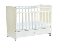 Кроватка Фея 700 выдвижной ящик белый