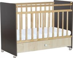 Кроватка Фея 700 выдвижной ящик венге/клен