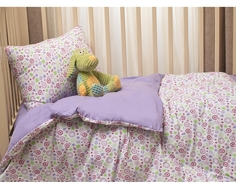 Комплект в кроватку Li-Ly «Фантазия» трикотаж, простыня на резинке 3 пр. сиреневый Kupu Kupu
