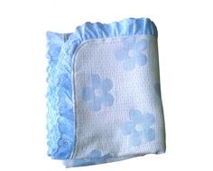 Одеяло Baby Nice вязаное многослойное муслин/хлопок с рюшами 100х118 см в ассортименте
