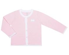 Кардиган для девочки Barkito «Пандочка 2», розовый с рисунком в горошек